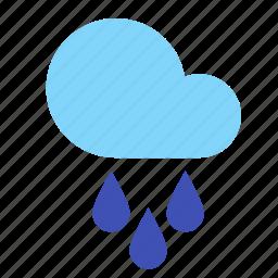 cloud, forecast, rain, sprinkle, weather icon
