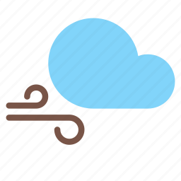 cloud, forecast, gust, weather, wind icon