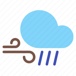 cloud, forecast, rain, weather, wind icon