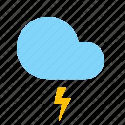 cloud, forecast, lightning, storm, weather icon