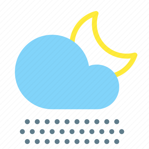 cloud, fog, forecast, moon, night, weather icon