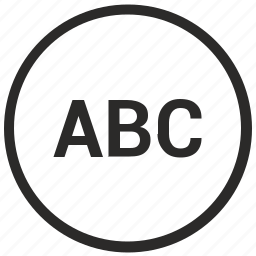 abc, format, mobile, mode, text, uppercase icon