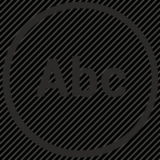 abc, enter, format, mode, text, tool, write icon