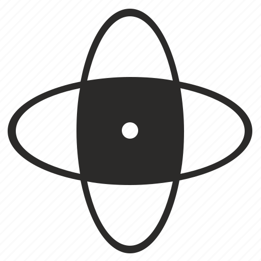 area, model, orbit, selection icon