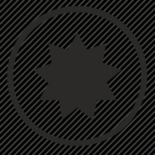 attact, bam, bomb, round, sign, terrorist icon