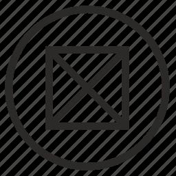 box, mobile, mode, no, picture icon