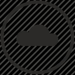 cloud, folder, mobile, mode, round, storage, transfer icon