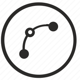 curve, dots, line, transform icon