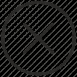 cancel, close, cross, delete, function, stop, ui icon