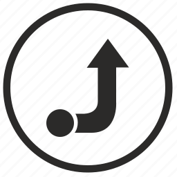 arrow, enter, forward, right, way icon
