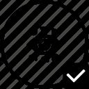 biometry, eye, identity, keyboard, ok, person, scan icon