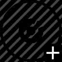 add, biometry, eye, pupil, scan icon