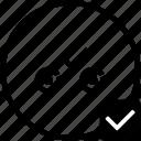biometry, complete, eye, keyboard, ok, process, scan icon