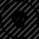 biometry, eye, head, man, person, view icon