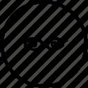 biometry, eye, process, scan, view icon