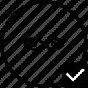 biometry, eye, keyboard, ok, process, scan, view icon