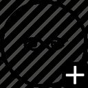 add, biometry, eye, process, scan, view icon