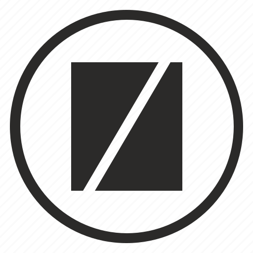 box, broken, fault, message, round, sign icon
