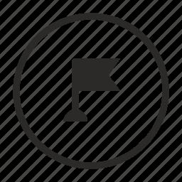 flag, geo, location, mobile, phone, pointer icon