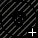 add, biometry, eye, find, head, scan icon