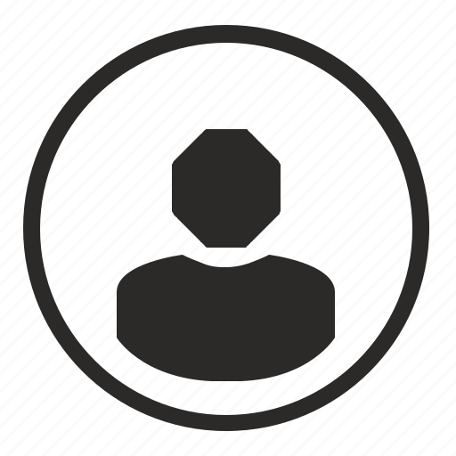 avatar, human, login, round, sign, user icon
