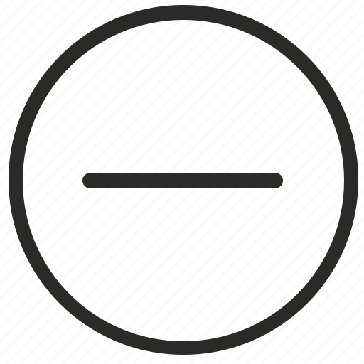 dash, difference, function, math, minus, round icon