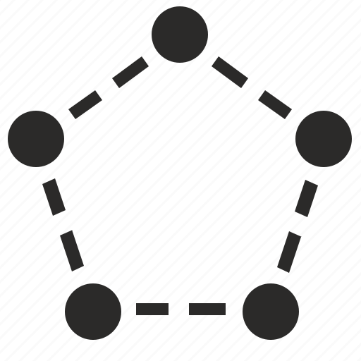 area, complex, figure, object, pentagon, select, selection icon