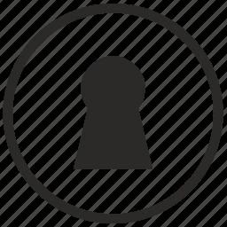door, hidden, keyhole, mobile, mode, secret, security icon