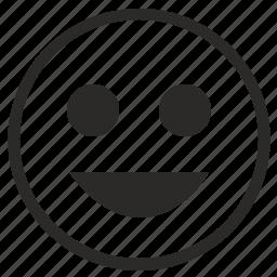 face, feelings, lucky, mobile, smile, smiley icon