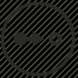 aim, conversion, mode, pointer, target, way icon