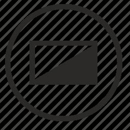 mode, plazma, round, screen, tv, view icon