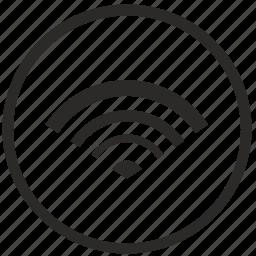 access, dot, free, internet, label, point, wifi icon