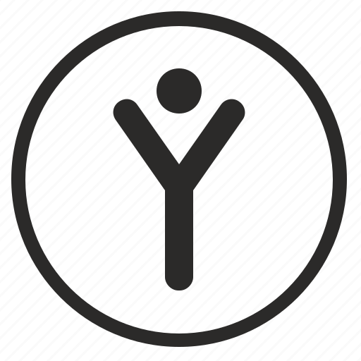 antenna, body, human, round, signal, y icon