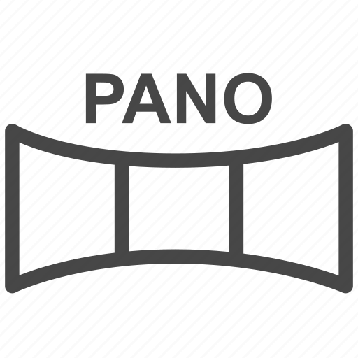 panorama, photo, picture, screen, view, virtual reality, vr icon