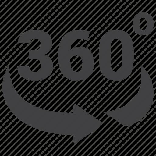 360, rotation icon