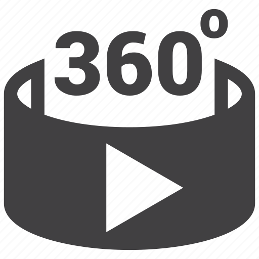 film, multimedia, video, virtual reality icon