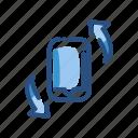 flip, mobile, rotate, turn, twist icon