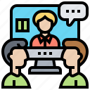 communication, conference, meeting, online, video icon