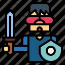 glasses, playing, shield, sword, vr