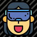 glasses, head, headset, vr