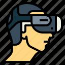 glasses, man, technology, vr
