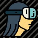 glasses, head, vr, woman