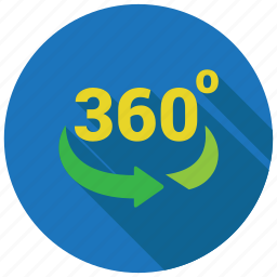 360 degree, rotate, rotation icon