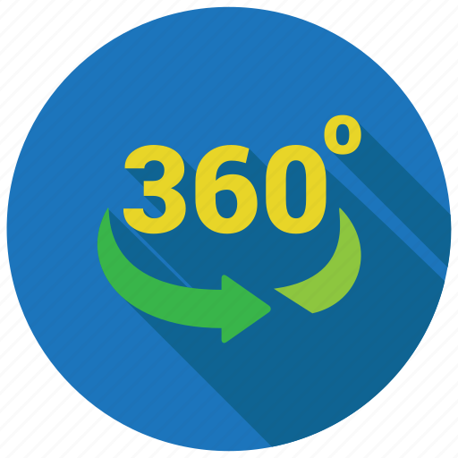 360 degree, rotate, rotation icon
