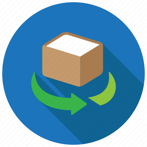 box, object, rotate icon