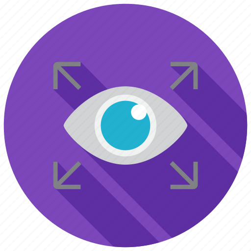 eyes, fullscreen, view icon
