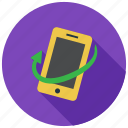 device, phone, rotate, rotation, smartphone icon
