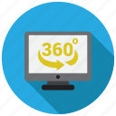 360, display, monitor, screen icon