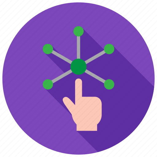 connection, tap, touch, vr icon