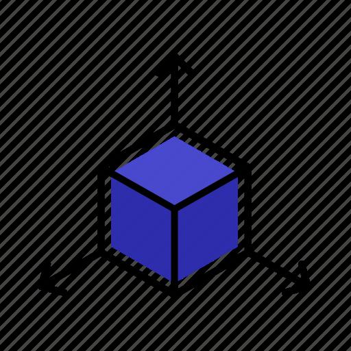 cube, reality, shape, virtual, vr icon